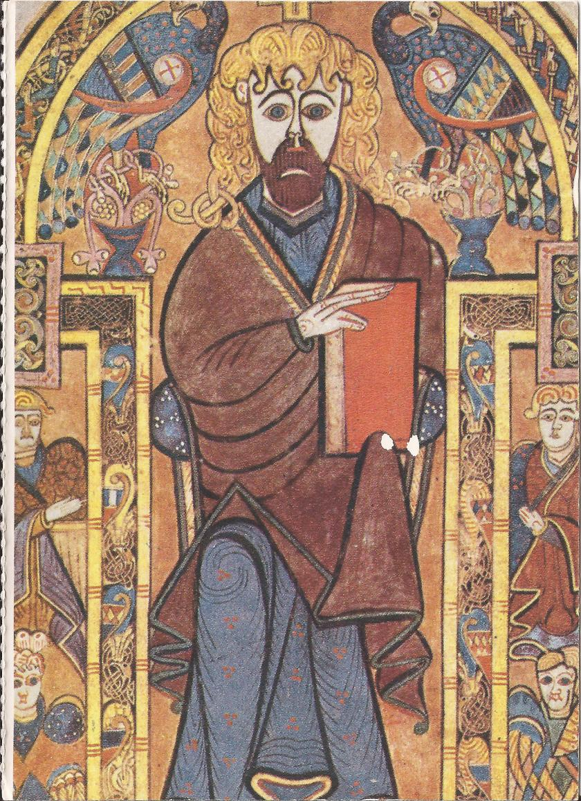Portrait of Christ from the Book of Kells