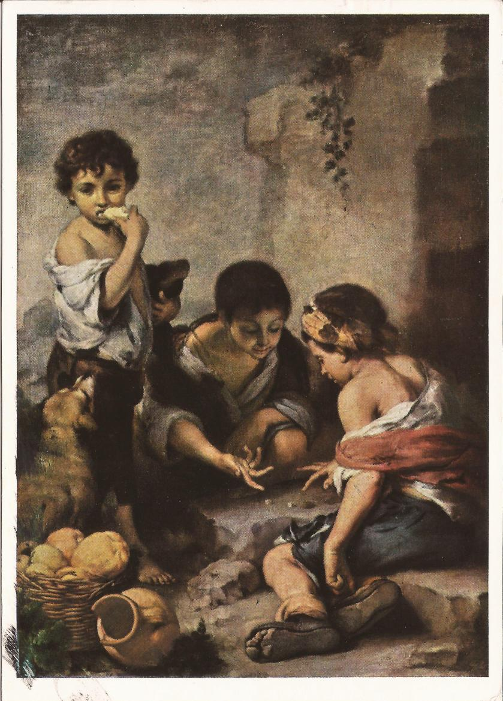 #1522   Bartolome Estaban Murillo  1617-1682  Die Wurfelspieler