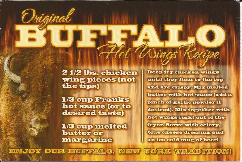 Buffalo wings recipe, Rochester, NY