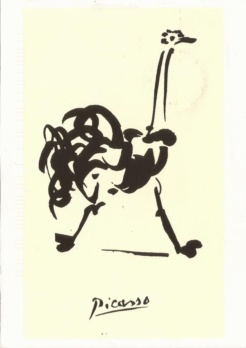 Picasso, L'autruche/Ostrich