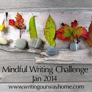 Shifting colors.  Mindful Writing Challenge, January 2014.